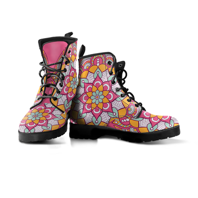 Mandala Spiritual Flower Handcrafted Boots - MM Watch 4U Store | Quality & Style