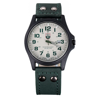 Gentlemen's Fashion Military Analog Watch - MM Watch 4U Store | Quality & Style