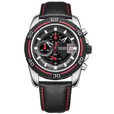 Men's Luxurious Leather Chrono Watch - MM Watch 4U Store | Quality & Style