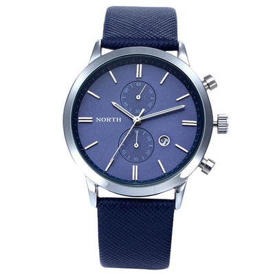 Attractive Men's Leather Chrono Watch - MM Watch 4U Store | Quality & Style