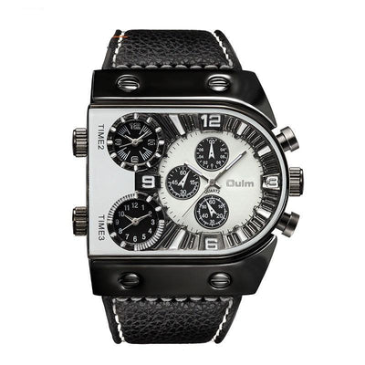 Men's Double Time Chrono Watch - MM Watch 4U Store | Quality & Style