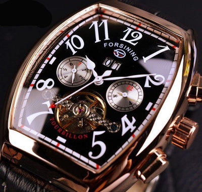 Forsining Rose Gold Case Men's Top Brand Luxury Automatic Watch