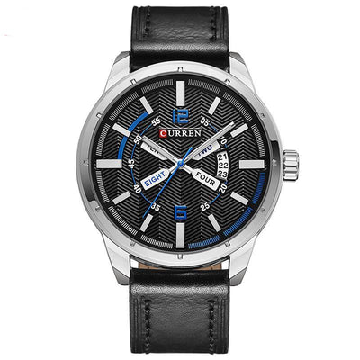 Curren Casual Fashion Men's Leather Sports Watch