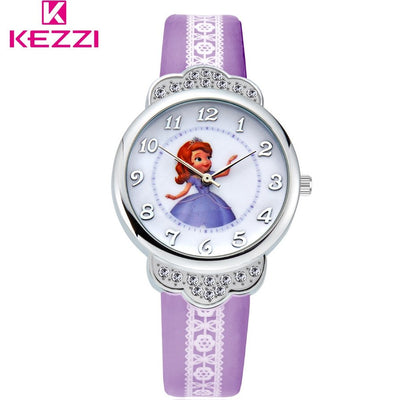 Kezzi Brand Leather Strap Student Casual Quartz Watch