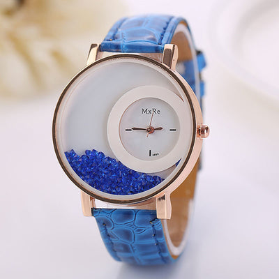 Ladies Fashion Watch With Loose Rhinestones - MM Watch 4U Store | Quality & Style