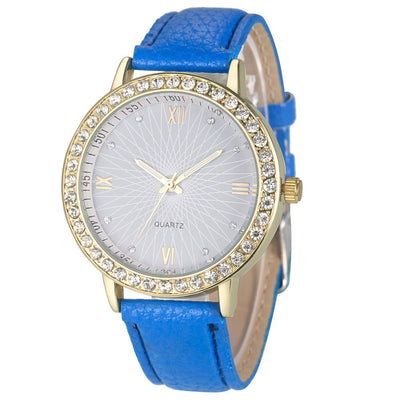 Luxury Brand Leather Diamond Style Quartz Ladies' Watch - MM Watch 4U Store | Quality & Style