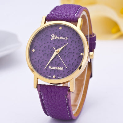 Snowflake New Simple Style Ladies' Casual Leather Quartz Watch