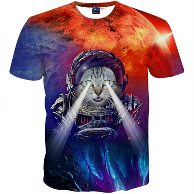 Unisex 3D Print Meow Star Cat T-Shirt - MM Watch 4U Store | Quality & Style