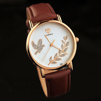 Ladies' Leaf Accented Quartz Watch - MM Watch 4U Store | Quality & Style
