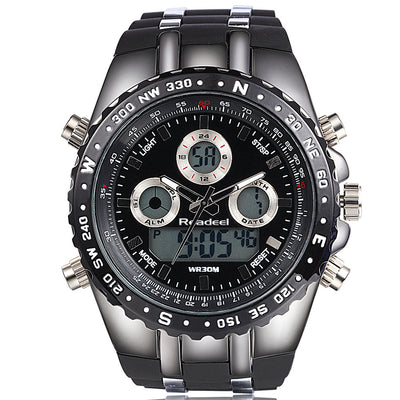 Readeel Brand Men's Luxury Big Dial Wrist Digital Analog Shock Military Watch