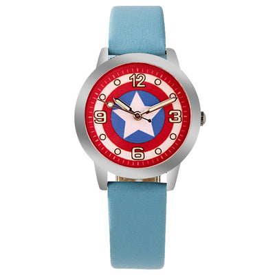 Captain America Fashion Quartz Children Kids Boys Girls Students Wristwatch