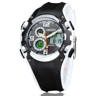 Ohsen Brand Digital Sport Kids Waterproof Digital Display Silicone Band Fashion Watch - MM Watch 4U Store | Quality & Style
