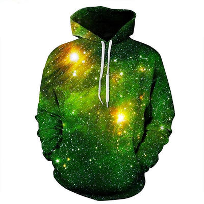 Space Galaxy 3D Sweatshirts Hoodies With Hat Print Stars Nebula Autumn Winter Loose Thin Hooded Tops
