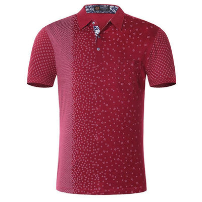 Men's Cotton Fashion Short Sleeve Casual High Quality Argyle Printed Slim Polo Shirt - MM Watch 4U Store | Quality & Style