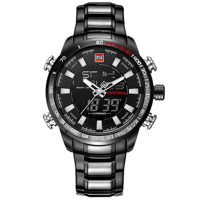 Stainless Steel Digital & Analog Men's Watch - MM Watch 4U Store | Quality & Style