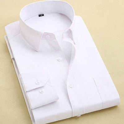 Men's Long Sleeve Slim Fit Business Shirt - MM Watch 4U Store | Quality & Style