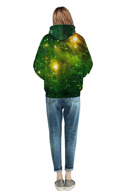 Space Galaxy 3D Sweatshirts Hoodies With Hat Print Stars Nebula Autumn Winter Loose Thin Hooded Tops - MM Watch 4U Store | Quality & Style
