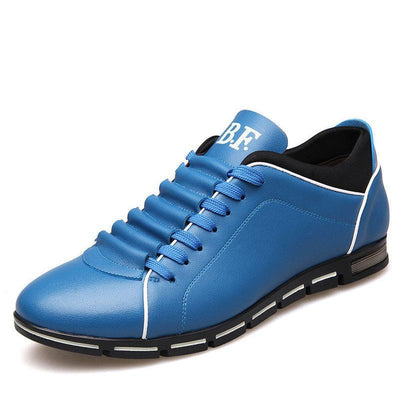 Men's Fashion Leather Summer Flat Casual Shoes