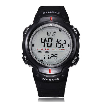 Synoke Men's Sports Top Brand Luxury Dive Digital LED Military Watch