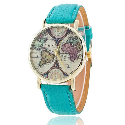 Vansvar Brand Fashion World Map Watch Casual Ladies' Quartz Watch - MM Watch 4U Store | Quality & Style