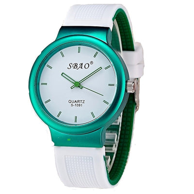 Sbao Brand Silicone Ladies Girls & Student Watch