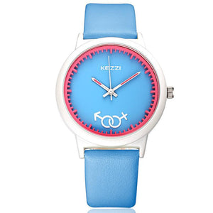 Candy Colored Leather Kiddie Watch