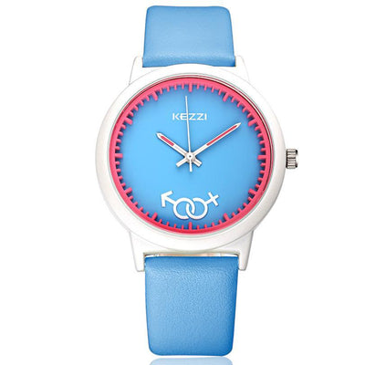 Kezzi Boys Cartoon Leather Printing Deformation Fashion Children Watch