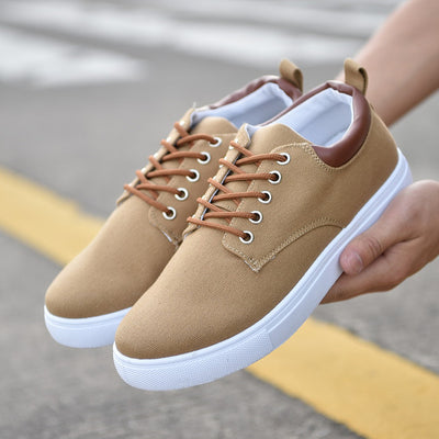 Men's Spring Summer Comfortable Canvas Lace-Up Casual Flat Loafers Shoes - MM Watch 4U Store | Quality & Style