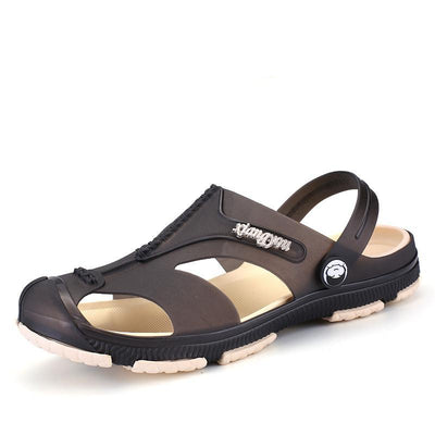 Men's Fashion Summer Leather Beach Casual Breathable Home Sandals