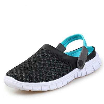 Men's Summer Breathable Mesh Lighted Casual Outdoor Slip On Beach Sandals