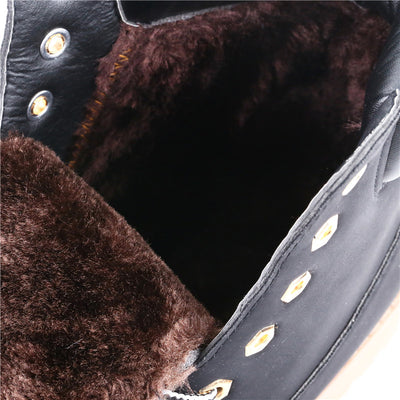 Men's Faux Suede Leather Spring Autumn And Winter Ankle Boots - MM Watch 4U Store | Quality & Style
