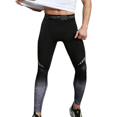 Men's Fitness Leggings Tights Elastic Patchwork Compression Tights Quick Dry Breathable Bodybuilding Pants - MM Watch 4U Store | Quality & Style