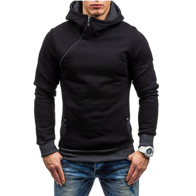 Hip Hop Men's Solid Hooded Zipper Cardigan Sweatshirt Slim Fit Hoodie - MM Watch 4U Store | Quality & Style