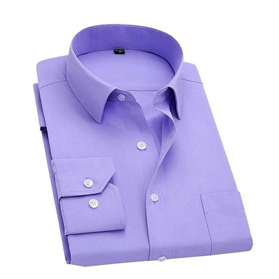 Men's Long Sleeve Slim Fit Business Shirt