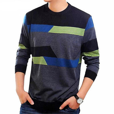 Men's O-Neck Wool Cashmere Pullover Long Sleeve Sweater - MM Watch 4U Store | Quality & Style
