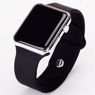 Square Face Silicone Digital Watch - MM Watch 4U Store | Quality & Style