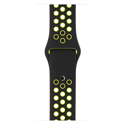 Grey White Silicone Sport Watch Band for Apple Watch Series 1 2 & 3 - MM Watch 4U Store | Quality & Style
