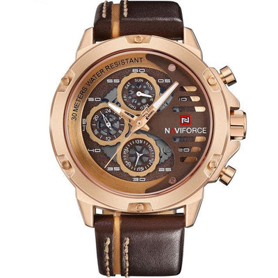 Men's Luxury Leather Sports Watch - MM Watch 4U Store | Quality & Style
