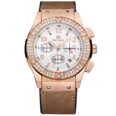 Crystal Encrusted Ladies' Chrono Watch - MM Watch 4U Store | Quality & Style
