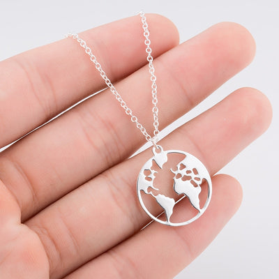 World Map Necklace - MM Watch 4U Store | Quality & Style