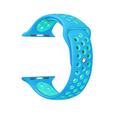 Blue Light Blue  Silicone Sport Watch Band for Apple Watch Series 1 2 & 3 - MM Watch 4U Store | Quality & Style