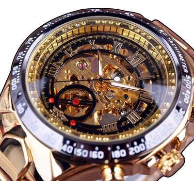 Men's Chrono Watch With Skeleton Dial - MM Watch 4U Store | Quality & Style