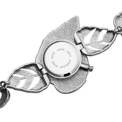 ASJ 2016 New Fashion Ladies'  Leaf Parttern Silver Bracelet Watch - MM Watch 4U Store | Quality & Style