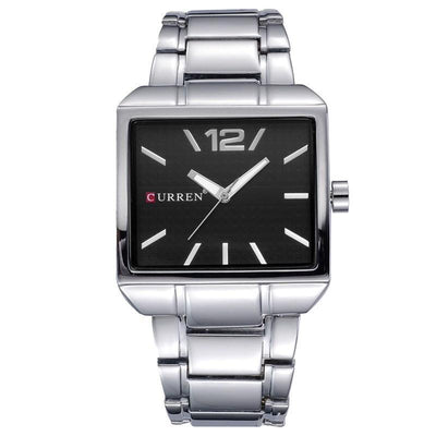 Curren New Fashion Full Steel Square Men's Business Quartz Watch - MM Watch 4U Store | Quality & Style