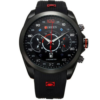 Curren New Fashion Men's Military Brand Design Army Calendar Rubber Luxury Wrist Watch - MM Watch 4U Store | Quality & Style