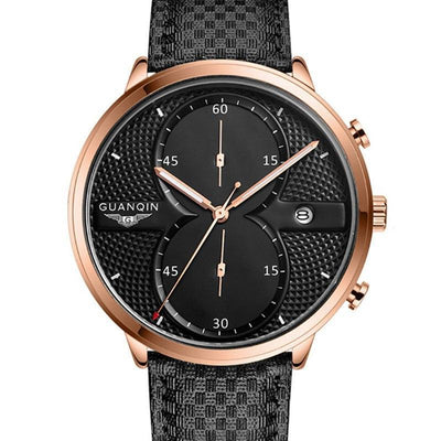Guanqin Luxury Top Brand Men's Business Quartz Leather Watchband Watch - MM Watch 4U Store | Quality & Style