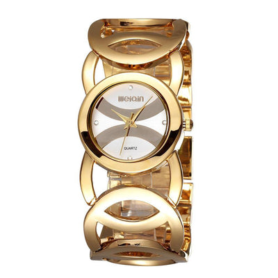 Weiqin Brand Luxury Crystal Gold Ladies' Fashion Bracelet Quartz Watch - MM Watch 4U Store | Quality & Style