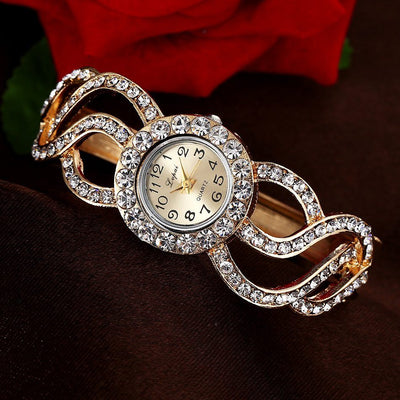 Crystal Encrusted Vintage Dress Watch - MM Watch 4U Store | Quality & Style