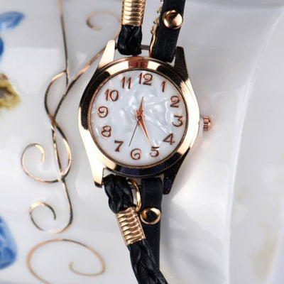 Hcandice Leather Strap Braided Winding Rivet Bracelet Watch - MM Watch 4U Store | Quality & Style