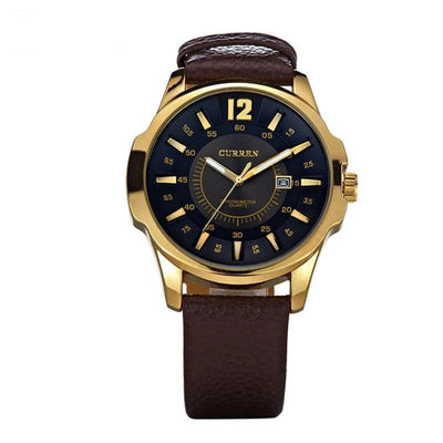 Curren Brand Leather Strap Men's Quartz Date Calendar Watch - MM Watch 4U Store | Quality & Style